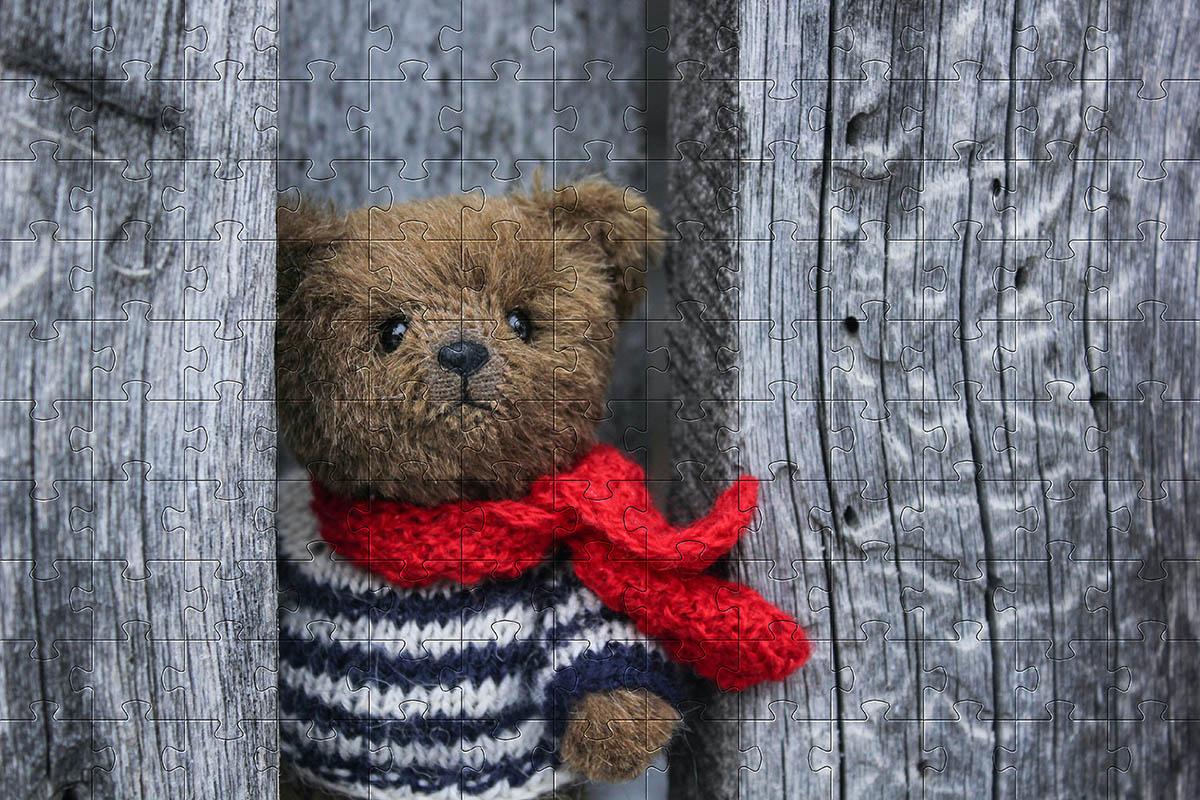 Quebra-Cabeça Urso de Pelúcia personalizado de 165 e 300 peças