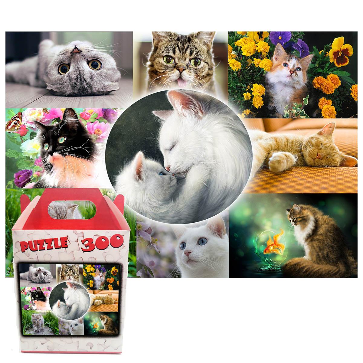 Quebra-cabeça Vida de Gato de 300 peças