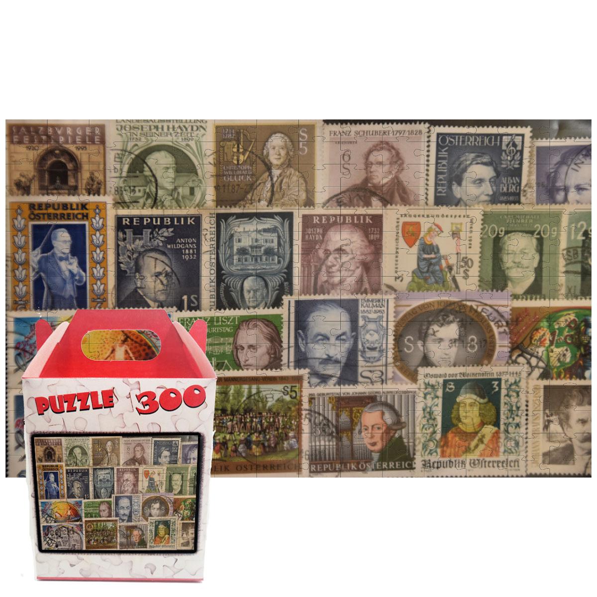 Quebra-cabeça Vintage Selos Filatelia de 300 peças