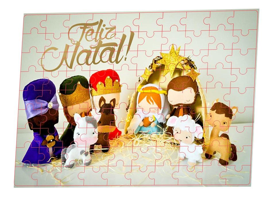 Quebra-cabeças 90 peças Feliz natal + Brinde Especial