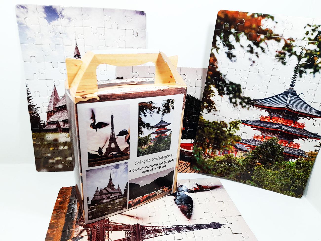 Quebra-Cabeças Cognitivos para idosos tema Paisagens - 60 peças