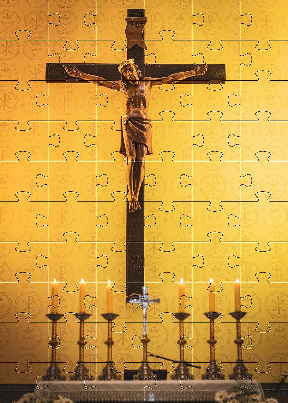 Quebra-Cabeças Cognitivos para idosos Tema Religião - 60 peças