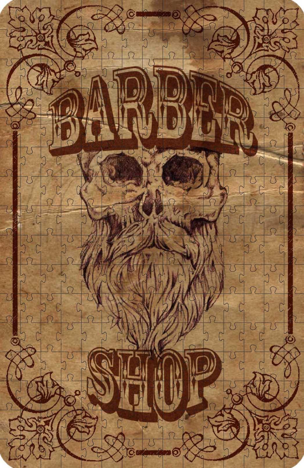 Quebra-cabeças Decorativo Barbearia de 165 peças