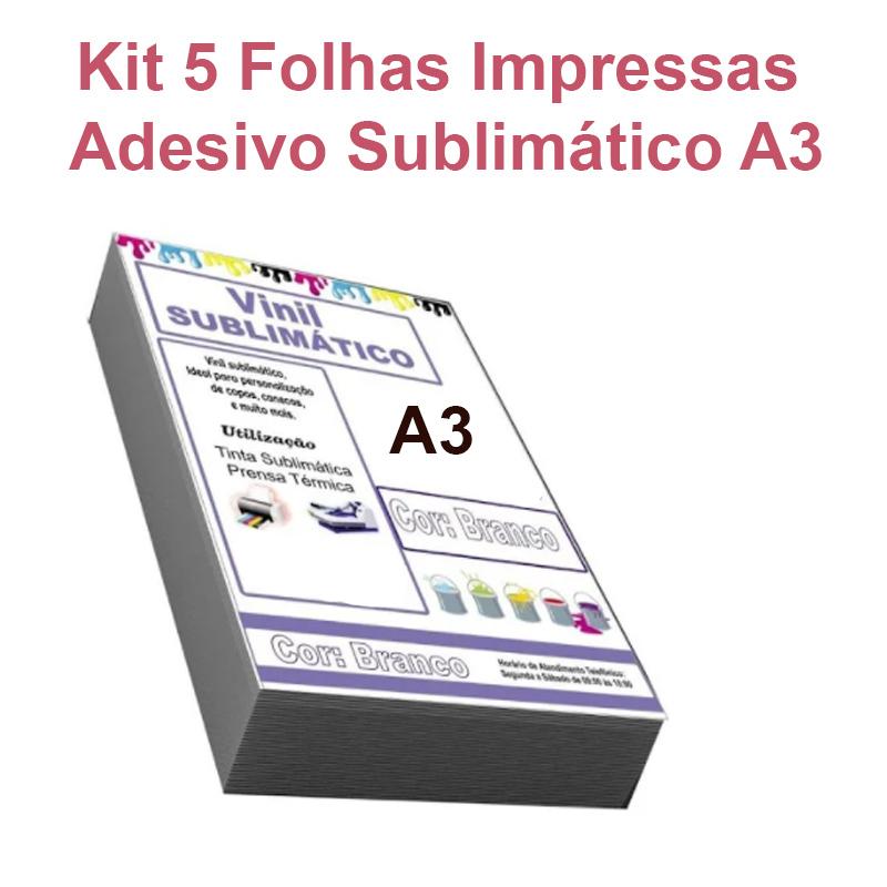 Serviço Impressão Adesivo Vinil Sublimático Impresso Transparente A3