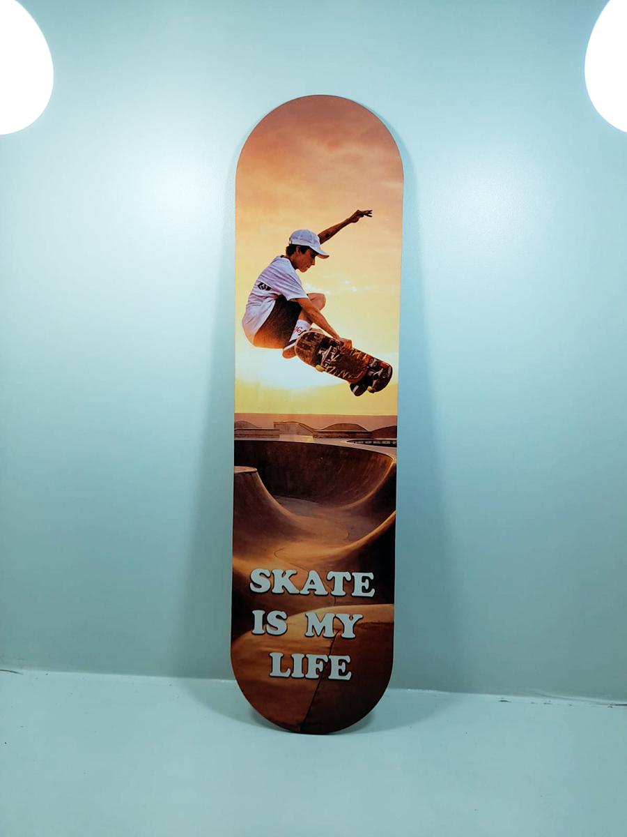 Shape Skate Decorativo - Skate é minha vida