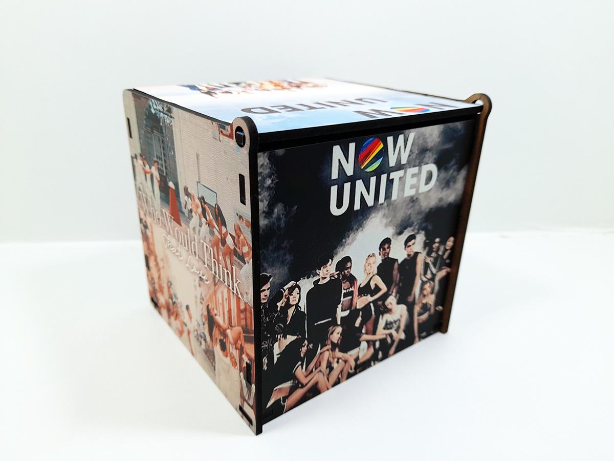 Super Caixa MDF porta treco Now United lançamento 2021