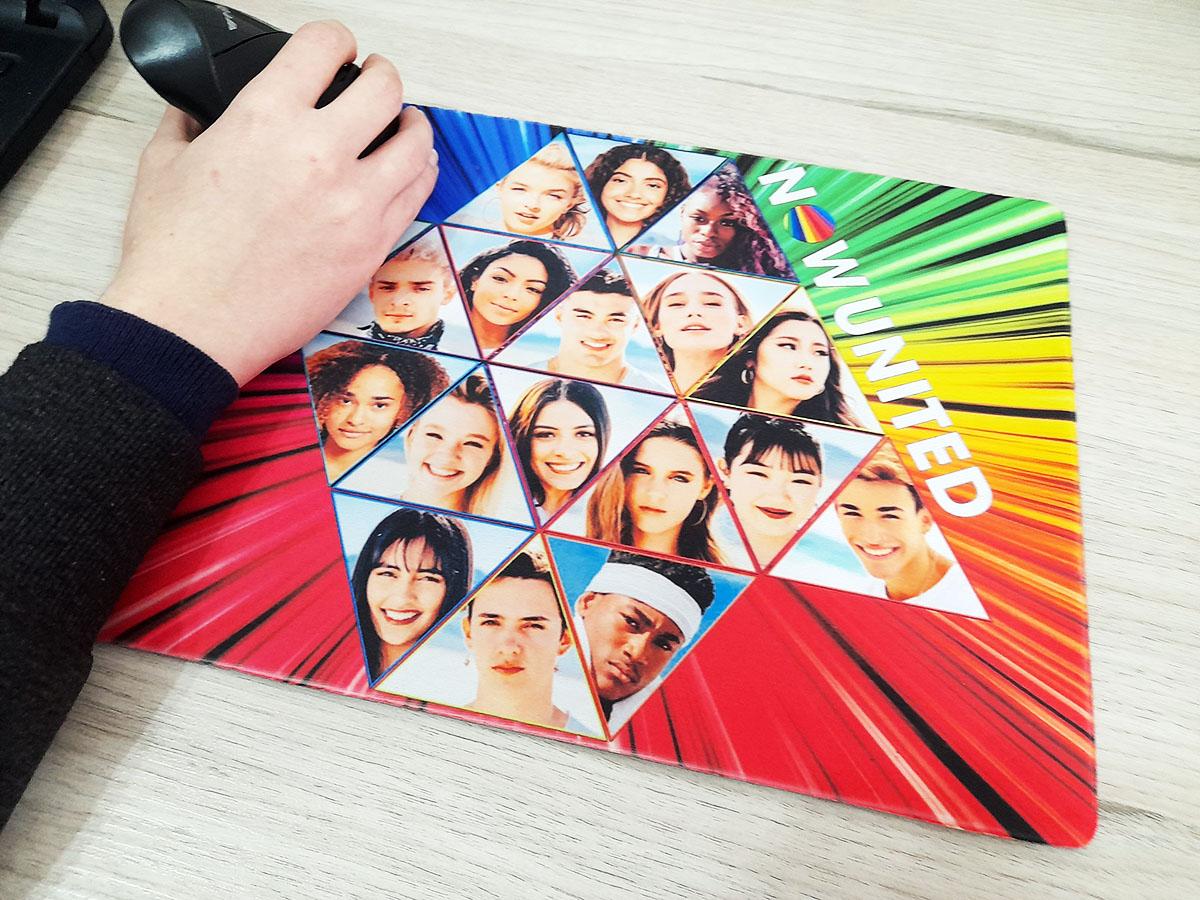 Super Mouse Pad Gamer Now United Fãs de 25 x 35 cm