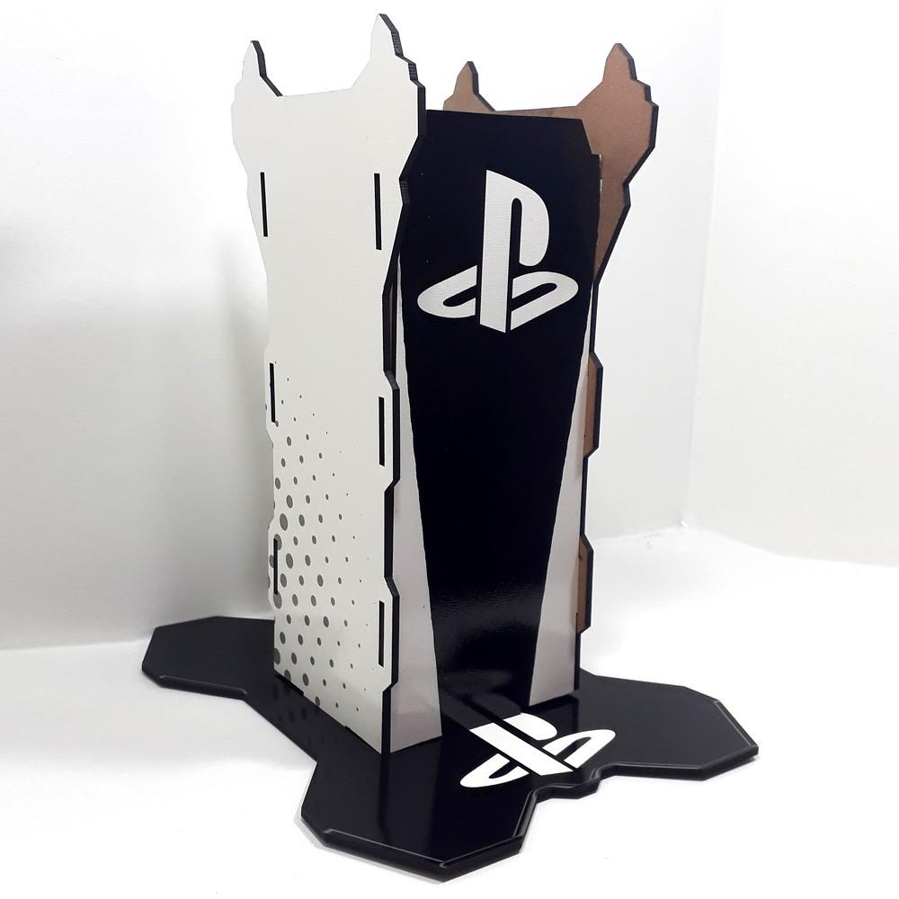 Suporte de Headset personalizado Playstation + Fone de Ouvido