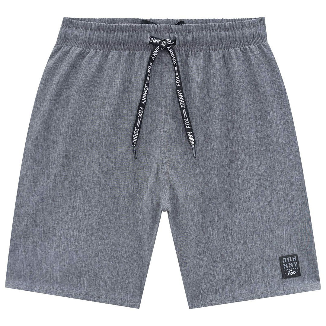 BERMUDA MASCULINA NYLON CINZA - JOHNNY FOX