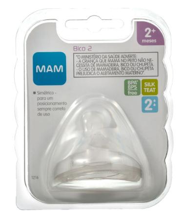 BICO DE MAMADEIRA FLUXO MÉDIO 2M+  N°2 - MAM