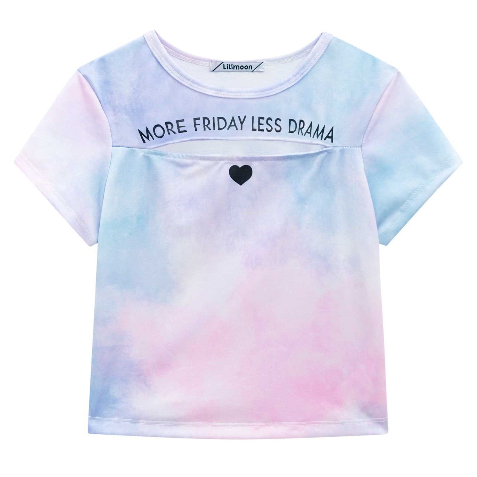 BLUSA CROPEED TIE DYE 'MORE FRIDAY LESS DRAMA' - LILIMOON