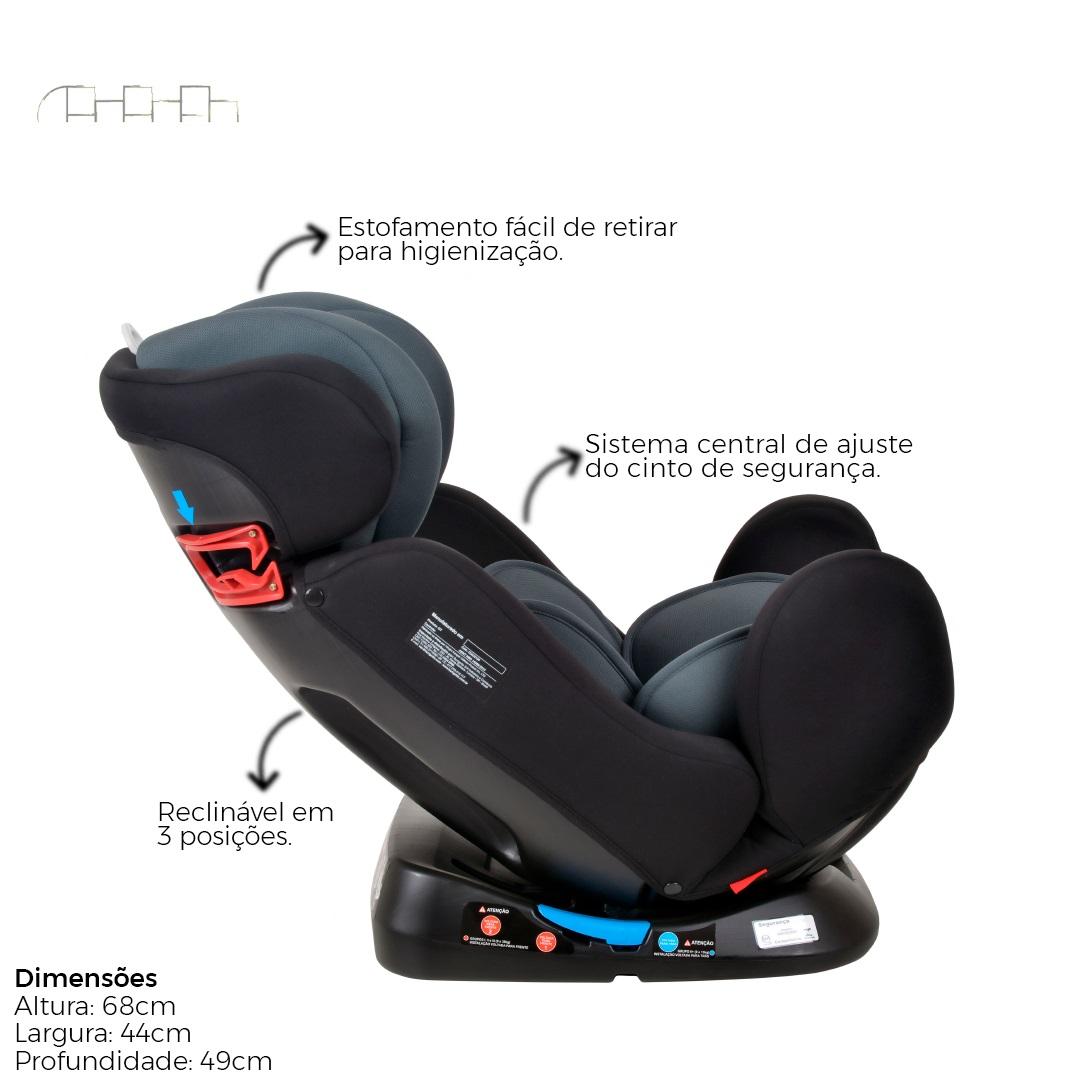 CADEIRINHA PARA AUTO GT 0.1.2.3 DE 0 A 36KG BLACK - BURIGOTTO