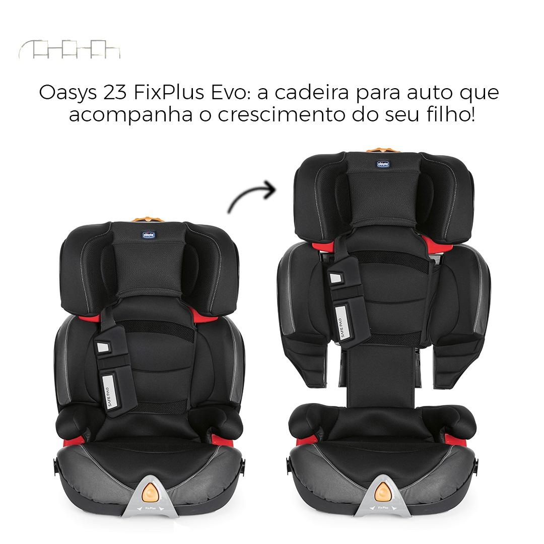 CADEIRINHA PARA AUTO OASYS EVO FIXPLUS JET BLACK 15 À 36KG - CHICCO