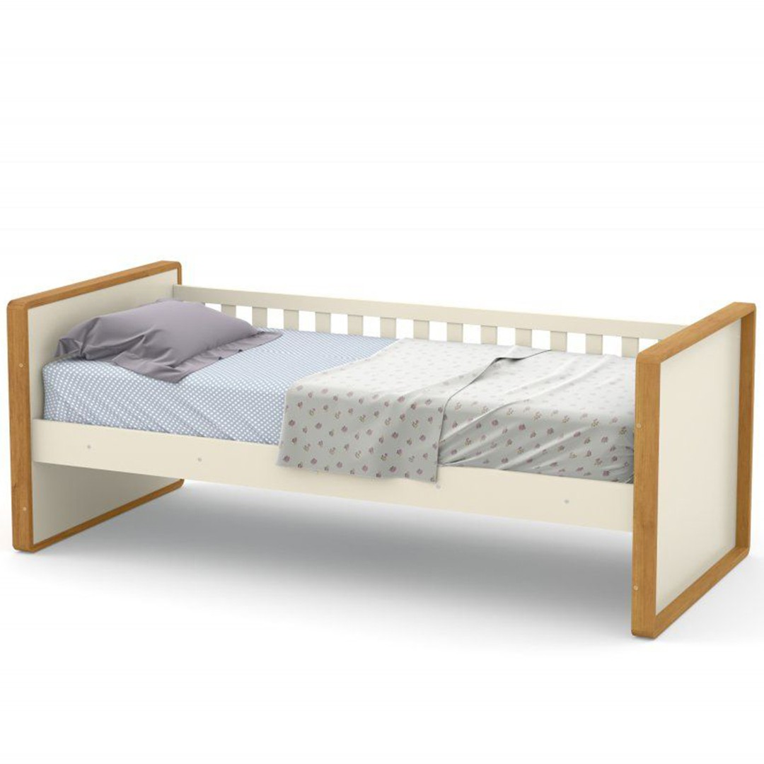 CAMA BABÁ TUTTO NEW  FREIJO/OFF WHITE - MATIC