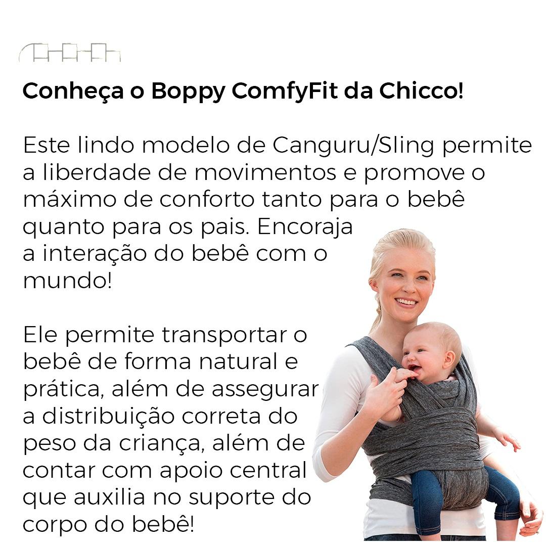CANGURU/SLING BOPPY COMFYFIT GRAY - CHICCO