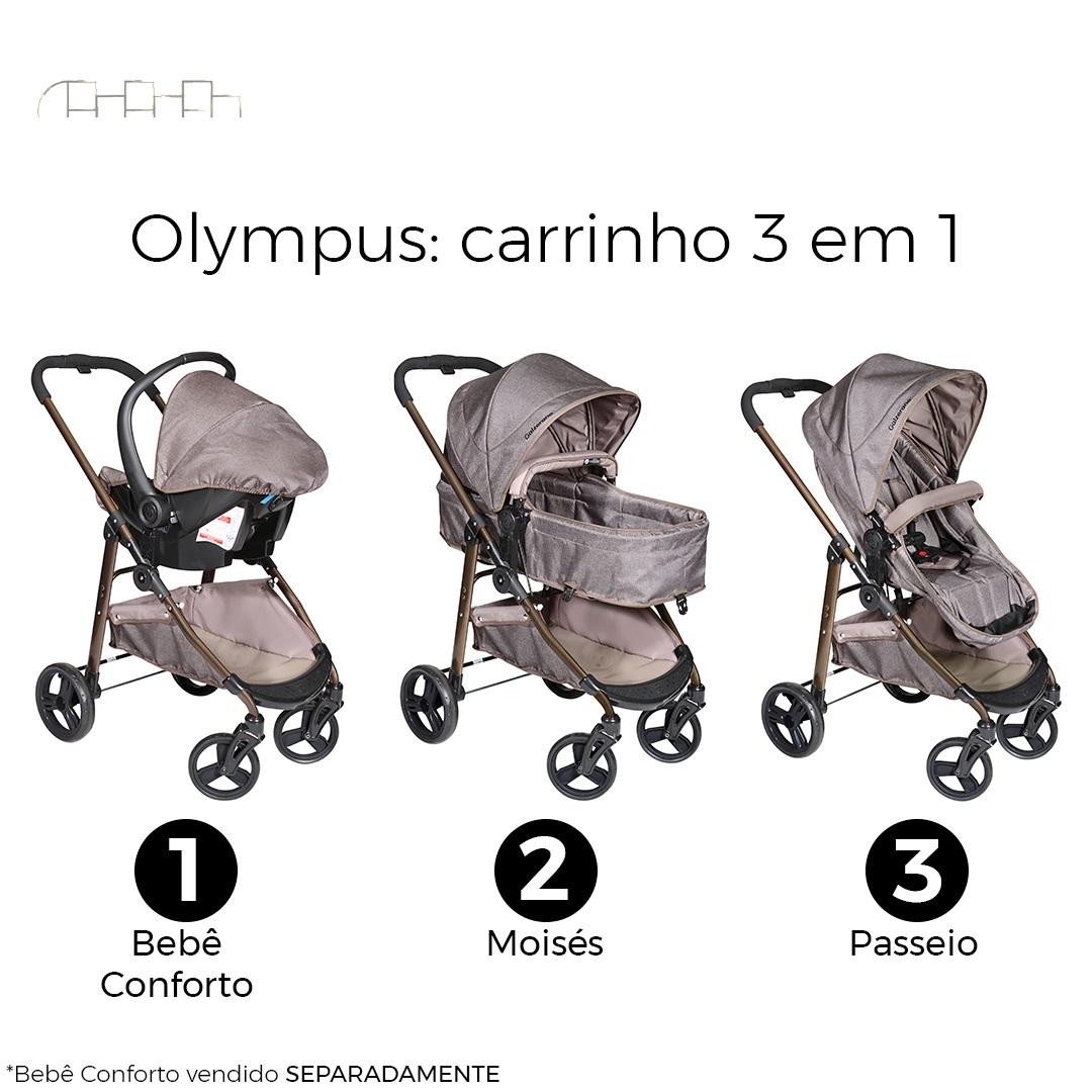 CARRINHO DE BEBÊ OLYMPUS CAPPUCCINO - GALZERANO