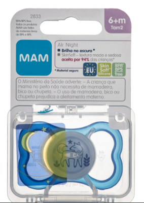 CHUPETA AIR NIGHT AZUL NUM.6+ MESES  - MAM
