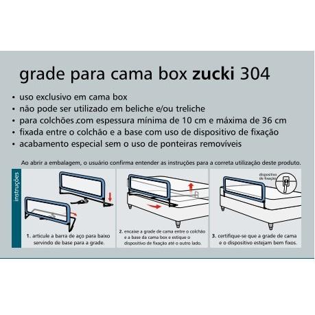 GRADE PROTEÇÃO PARA CAMA BOX ZUCKI CINZA - KIDDO