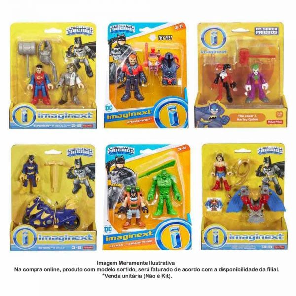 IMAGINEXT FIGURAS SORTIDAS DC - FISHER PRICE