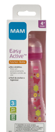 MAMADEIRA EASY ACTIVE ROSA 330ML - MAM