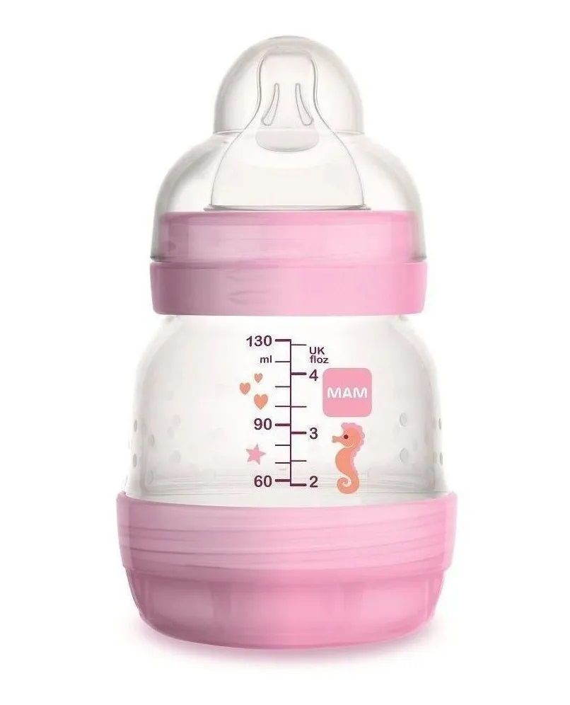 MAMADEIRA EASY START 130ML ROSA - MAM