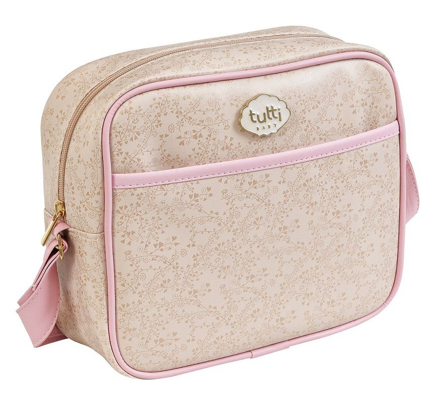 MINI BAG BEGE COM ROSA 01018.01028