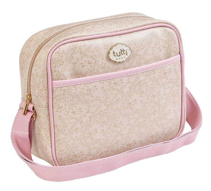 MINI BAG BEGE COM ROSA 01018.01028