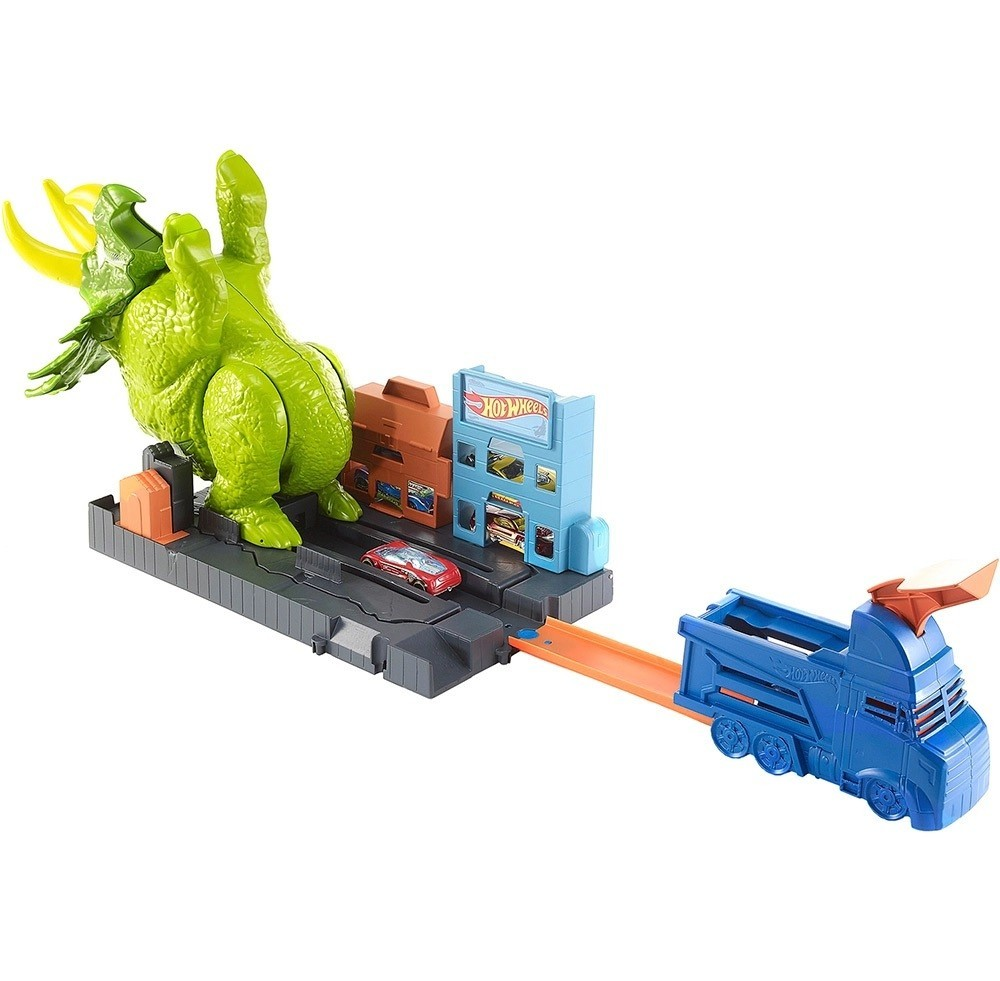 PISTA HOT WHEELS CITY ATAQUE TRICERATOPS - HOT WHEELS