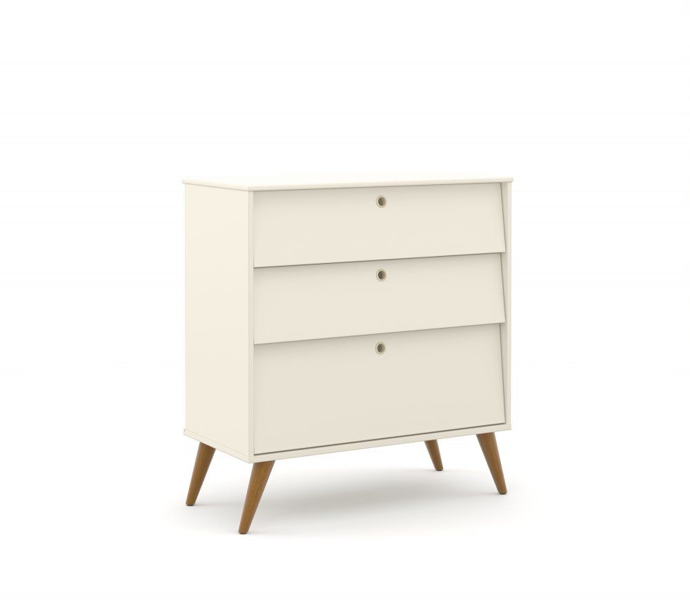 QUARTO DE BEBÊ GOLD ECO WOOD OFF WHITE/ECO WOOD ROUPEIRO 2 PORTAS - MATIC