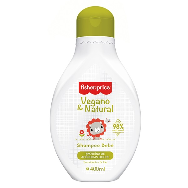 SHAMPOO VEGANO E NATURAL BEBÊ 400ML - FISHER PRICE