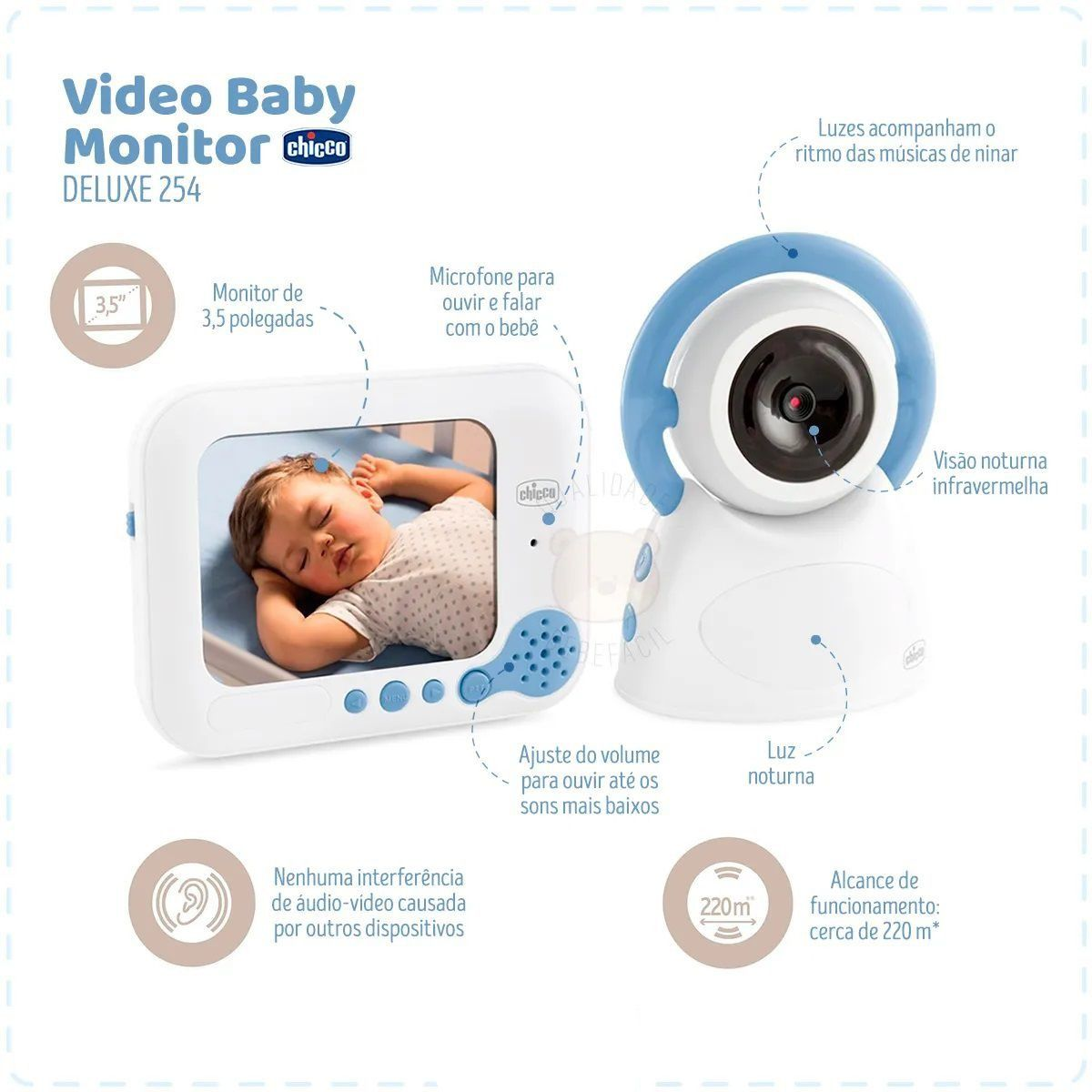 VIDEO BABY INTERCOMUNICADOR COM MONITOR DELUXE - CHICCO