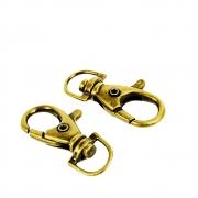 Mosquetão Metal 39mm Ld-101 Ouro