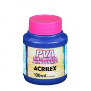 Tinta Fosca Para Artesanato Acrilex Azul Turquesa 100ml