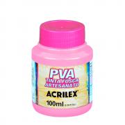 Tinta Fosca Para Artesanato Acrilex Rosa 100ml