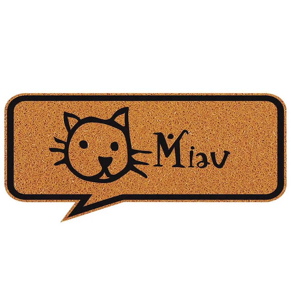 Capacho Vinil Formas 30X70cm Miau
