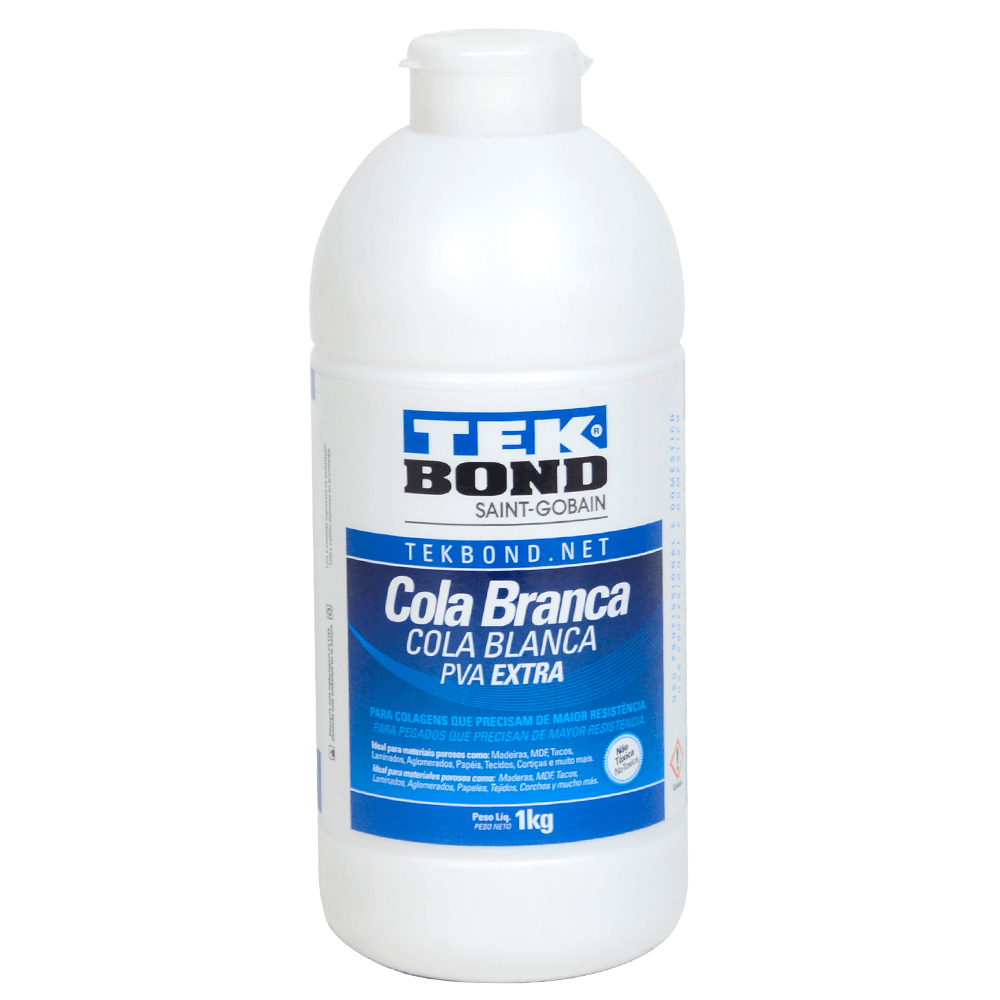 Cola Adesiva PVA Branca Extra Tek Bond 1Kg