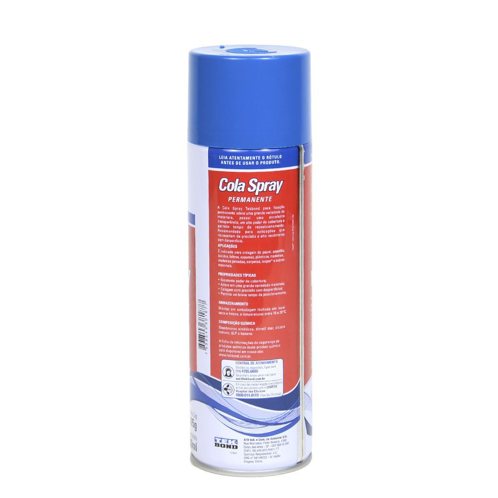 Cola Adesiva Spray 305Gr Tek Bond Permanente