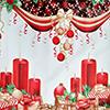 Atoalhado Natal Velas