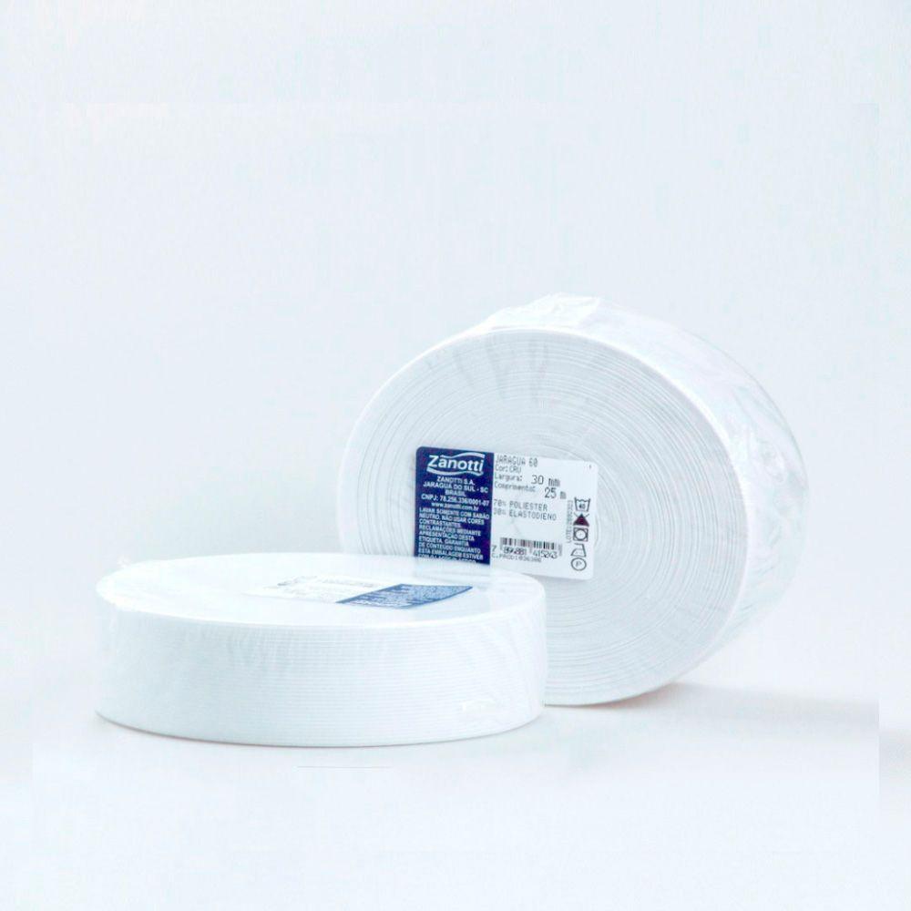 Elástico Poliéster 30mm Branco Zanotti