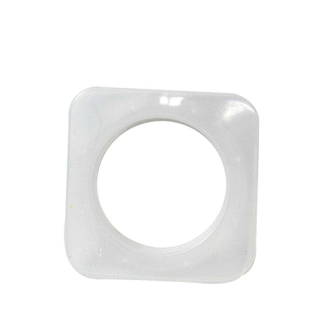 Ilhós Plastico Quadrado Transparente