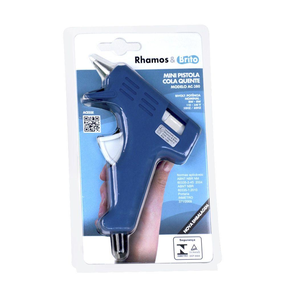 Mini Pistola Artesanal De Cola Quente Ac 280 Azul