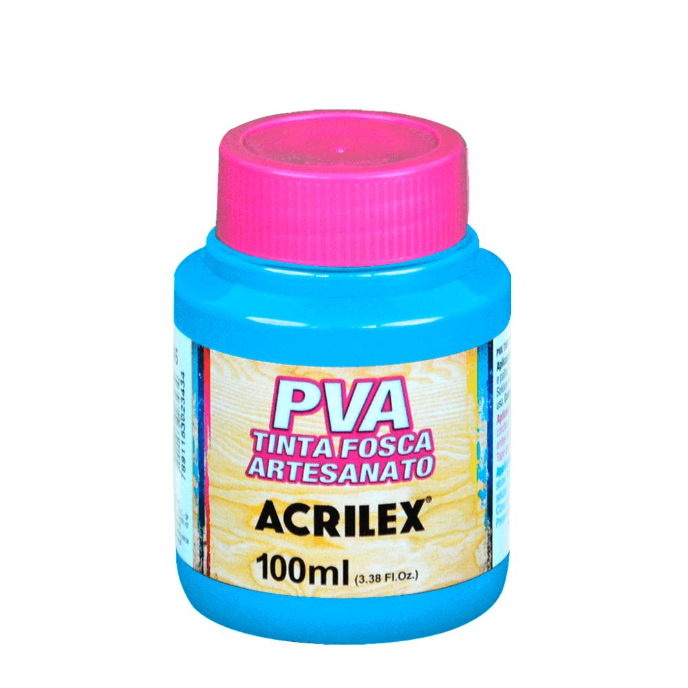 Tinta Fosca Para Artesanato Acrilex Azul Celeste 100ml