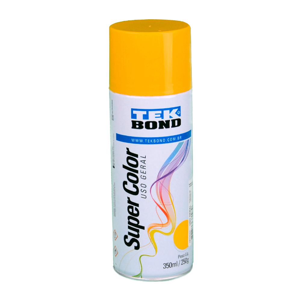 Tinta Spray Super Color Tekbond Amarelo Uso Geral 350ml