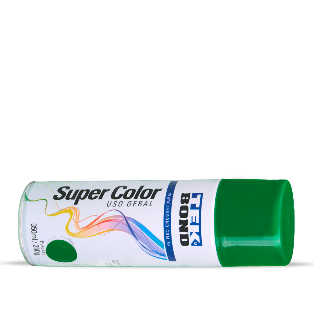 Tinta Spray Super Color Tekbond Verde Uso Geral 350ml