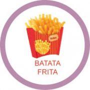 Ficha metálica de alimentos Batata frita