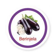 Ficha metálica de alimentos Berinjela