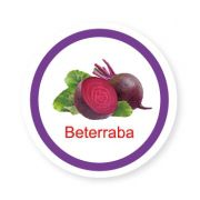 Ficha metálica de alimentos Beterraba