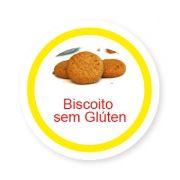 Ficha metálica de alimentos Biscoito sem Glúten
