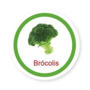 Ficha metálica de alimentos Brócolis