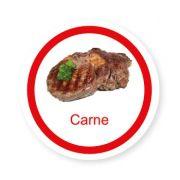 Ficha metálica de alimentos Carne